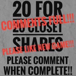 COMMENTS FULL!! PLEASE LIKE NEW GAME TO CONTINUE!!